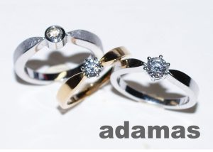 Selection of engagement rings adamas