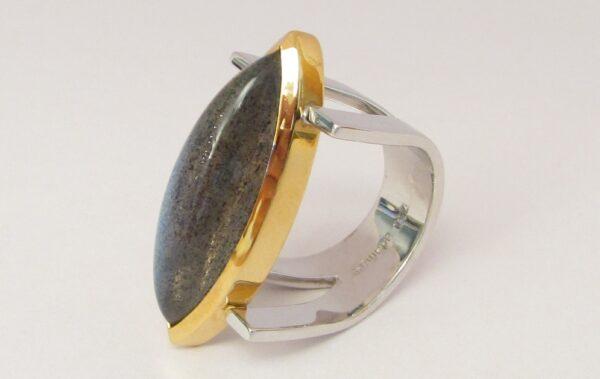 anello con labradorite adamas