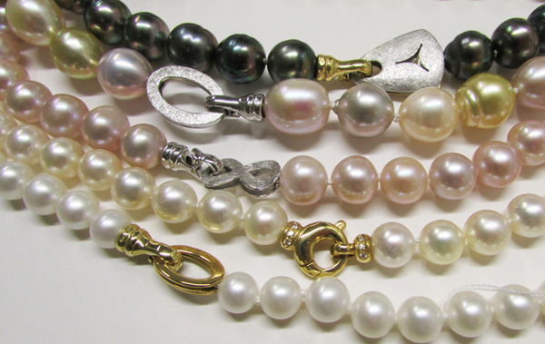 Akoya Freshwater Tahiti and South sea pearls