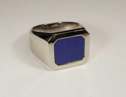 Ring Weissgold mit Lapis Lazuli