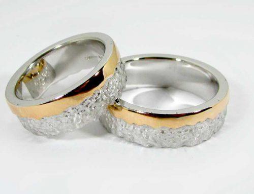 Fedi matrimoniali oro rosso e bianco