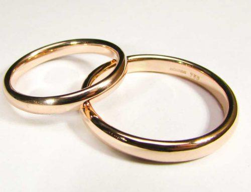 Fedi matrimoniali semplice oro rosso