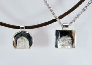 ciondoli con impronta digitale argento 925. creati da adamas oreficeria e gioielleria a locarno