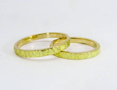 Eheringe in 18 Karat Gelbgold 1012-14 handgefertigt in unserem Atelier